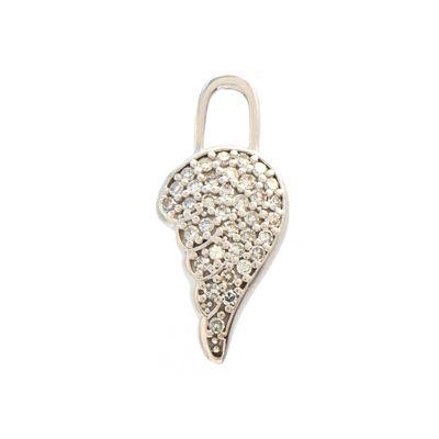 Berloque para brinco broken wing em ouro com diamantes