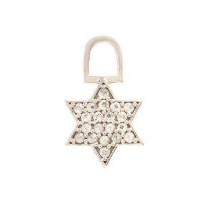 Berloque para brinco star em ouro com safiras