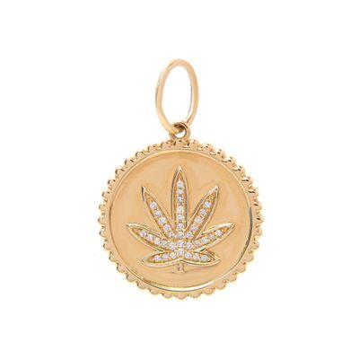 Medalha marijuana em ouro com diamantes