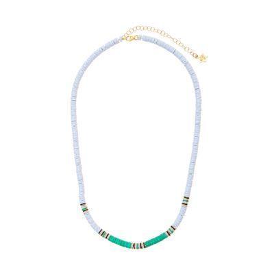 Colar Cielle Ebony branco, verde e negro em ouro com diamante