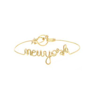 Pulseira-em-ouro-amarelo-18kt-com-escrita--new-york--em-letra-cursiva