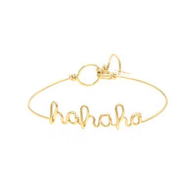 Pulseira-em-ouro-amarelo-18kt-com-escrita--hahaha--em-letra-cursiva