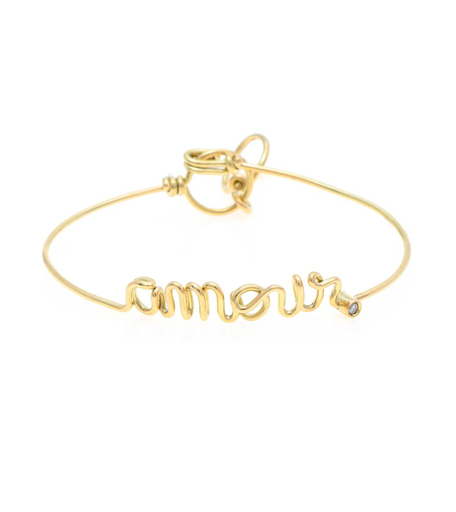 Pulseira Cielle amour em ouro com diamante