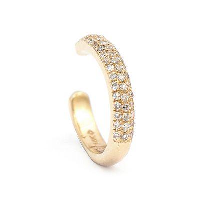 Brinco piercing em ouro com diamante