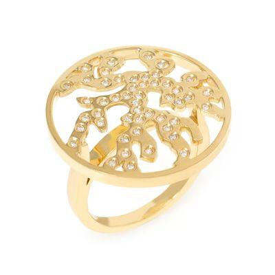Anel Essere Alga Marinha em ouro com diamantes