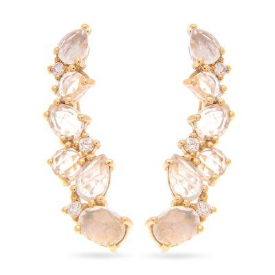 Brinco-earcuff-em-ouro-com-pedras-da-lua e diamantes
