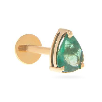 Brinco-único-solitário-com-tarraxa-piercing-em-ouro-com-esmeralda