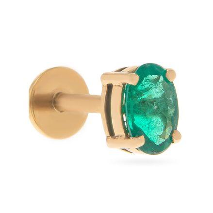 Brinco-unico-solitario-com-tarraxa-piercing-em-ouro-com-esmeralda