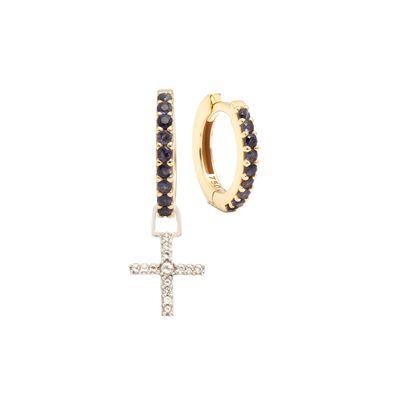 Berloque-para-brinco-crucifixo-em-ouro-com-safiras-e-topazio