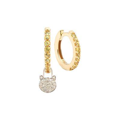 Berloque-para-brinco-com-formato-de-gatinho-em-ouro-branco-18kt-com-diamantes-em-lapidacao-brilhante
