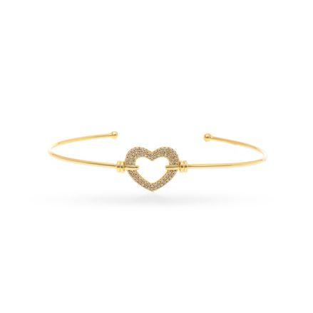 Pulseira-rígida-coração-de-ouro-com-diamantes