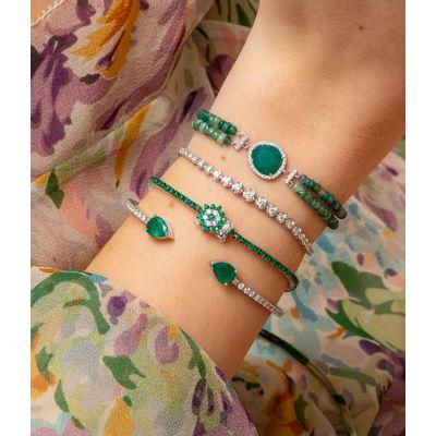 Pulseira-Meira-T-de-ouro-com-esmeraldas-e-diamantes-
