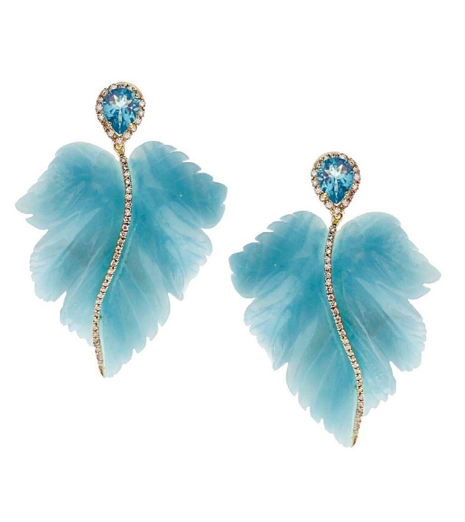 Brinco-Casa-Castro-Sky-de-ouro-com-diamantes-quartzo-azul-e-apatita