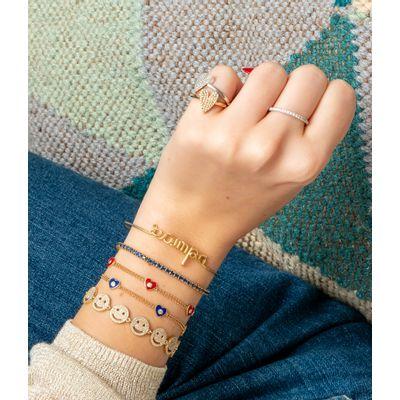 Pulseira-de-ouro-corações-esmaltados-e-diamantes