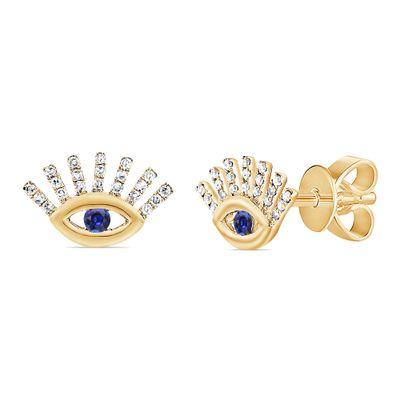 Brinco-stud-olho-grego-de-ouro-com-diamantes-e-safira