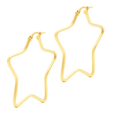 Brinco-argola-estrela-de-ouro