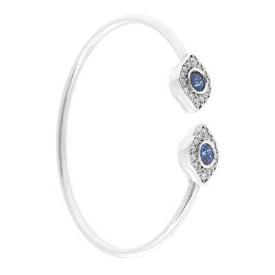 Pulseira-Aspery---Guldag-rigida-de-ouro-com-diamantes-e-safiras