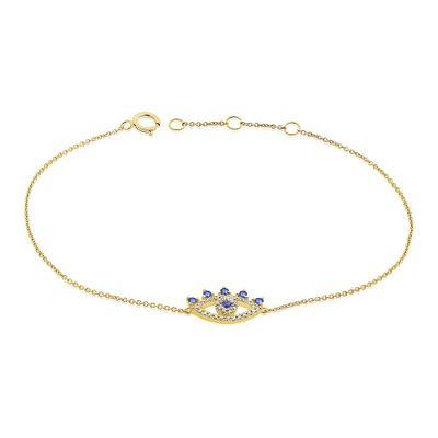 Pulseira-olho-grego-de-ouro-com-diamantes-e-safiras