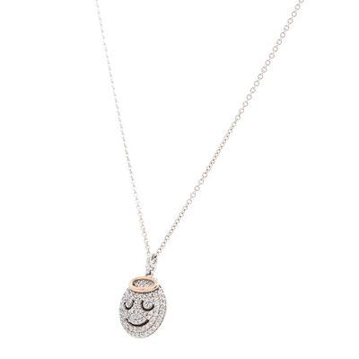 Colar-pendente-Aspery---Guldag-Angel-de-ouro-com-diamantes
