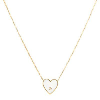 Colar-pendente-coracao-de-ouro-com-diamante-e-esmalte