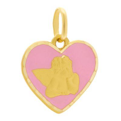 Berloque-infantil-coração-de-ouro-com-esmalte