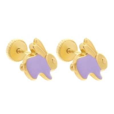 Brinco-infantil-coelhinho-de-ouro-com-esmalte
